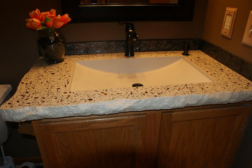 Bathroom Concrete Vanity Sink Portfolio North Metro Twin