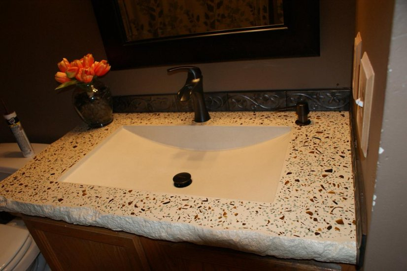 Bathroom Concrete Vanity Sink Portfolio North Metro Twin Cities Impressive Custom Bathroom Countertops