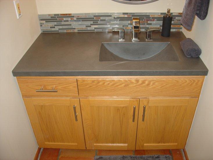 Bathroom Concrete Vanity Sink Portfolio North Metro Twin